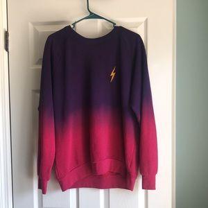 Aviator Nation Faded Bolt Embroidery Sweatshirt